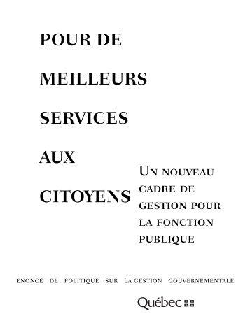 POUR DE MEILLEURS SERVICES AUX CITOYENS - Claude Rochet