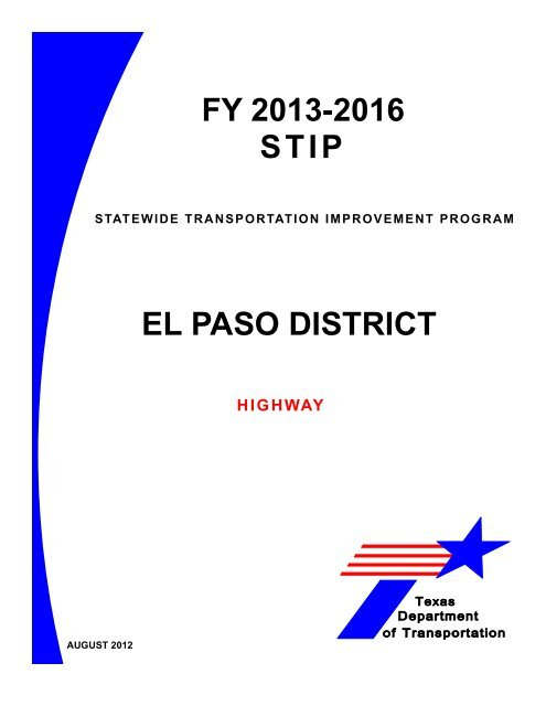 El Paso - Welcome to the Texas Department of Transportation FTP ...