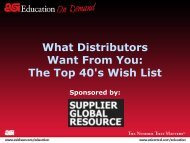 What Distributors Want From You: The Top 40's Wish List