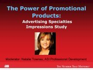 The Power of Promotional Products: - Advertising Specialty Institute