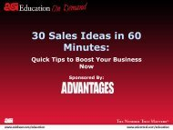 30 Sales Ideas in 60 Minutes: