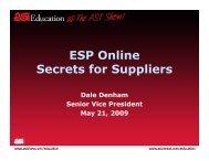 ESP Online Secrets for Suppliers
