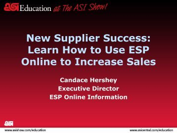 New Supplier Success: Learn How to Use ESP Online to Increase ...