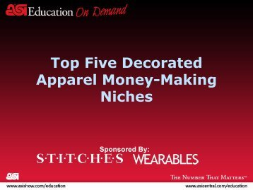 Top Five Decorated Apparel Money-Making Niches