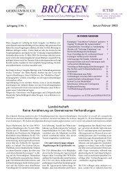 Januar / Februar 2003 | Jahrgang 5, Nr.1 - Germanwatch