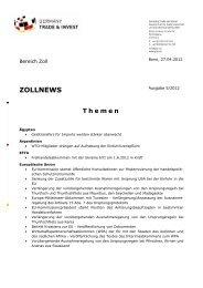 ZOLLNEWS Ausgabe 5/2012 - Germany Trade & Invest