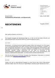 Rechtsnews 8/2009 - Germany Trade & Invest