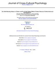 Journal of Cross-Cultural Psychology - NYU Steinhardt - New York ...
