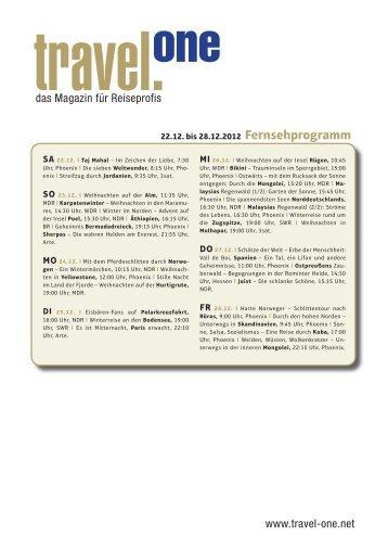 das Magazin für Reiseprofis www.travel-one.net