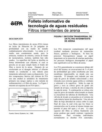 Filtros intermitentes de arena - Water - US Environmental Protection ...