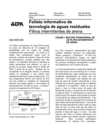 Filtros intermitentes de arena - Water - US Environmental Protection ...