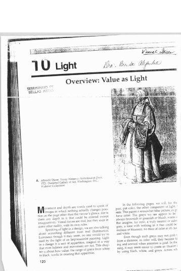 Value as Light - Facultad De Humanidades