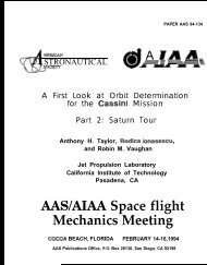 AAS/AIAA Space flight Mechanics Meeting - BEACON eSpace at Jet ...