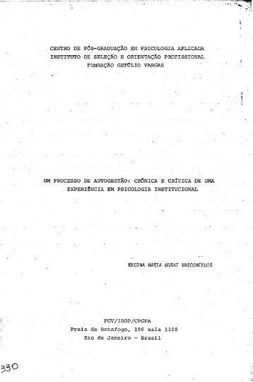 REGINA MARIA MURAr VASCONCELOS - Sistema de Bibliotecas ...