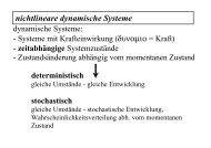 Determinismus / Stochastizität