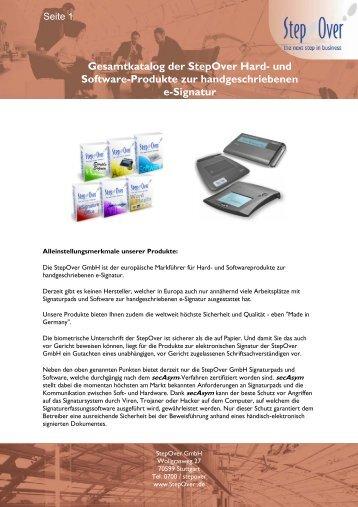 und Software-Produkte zur handgeschriebenen e ... - StepOver GmbH