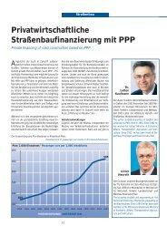 Privatwirtschaftliche Straßenbaufinanzierung mit PPP