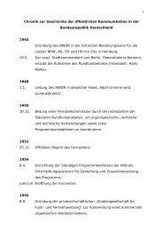 1 Chronik zur Geschichte der öffentlichen Kommunikation in der ...