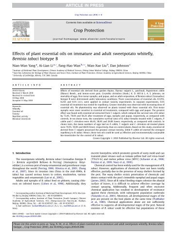 Yang et al. Crop Protection.pdf - U of L Personal Web Sites ...