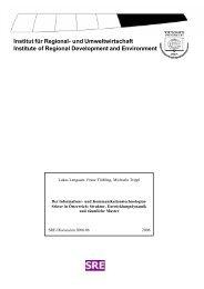 Institut für Regional- und Umweltwirtschaft Institute of Regional ...
