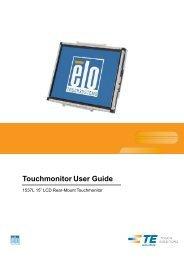 Touchmonitor User Guide - Open site which contains PDF - Elo ...