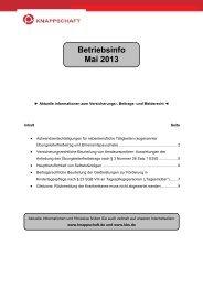 Betriebsinfo Mai 2013 (PDF/105 KB) - Knappschaft-Bahn-See