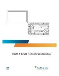 ET2639L 26-Zoll-LCD-Touchmonitor Betriebsanleitung - Elo ...