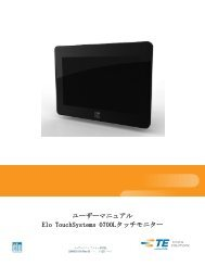 Touchmonitor User Guide