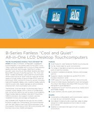 """B-Series Fanless """"Cool and Quiet"""" - Elo Touch Solutions"""