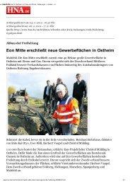 Eon Mitte erschließt neue Gewerbeflächen in Ostheim