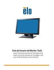 Guía del Usuario del Monitor Táctil - Elo Touch Solutions