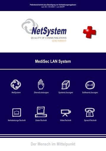 NetSystem MediSec LAN Flyer