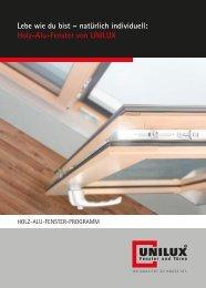 Holz-Alu-Fenster von UNILUX - mhs seon