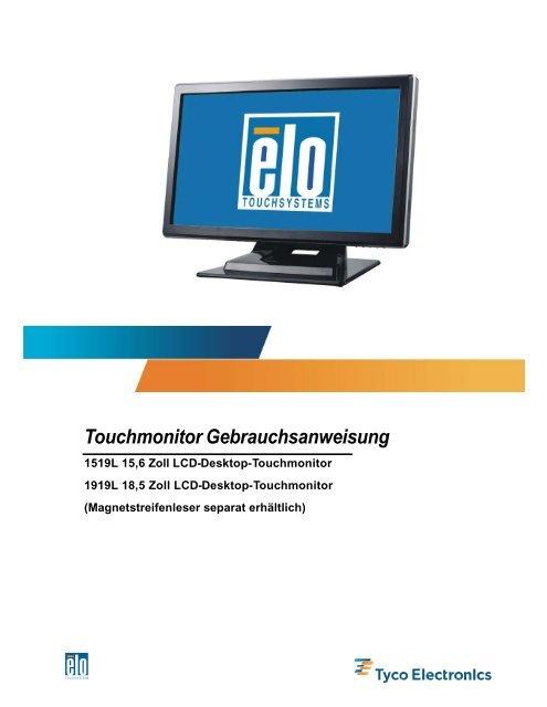 Touchmonitor Gebrauchsanweisung
