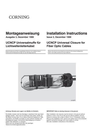 Installation Instructions Montageanweisung