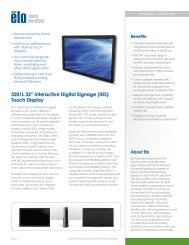 3201L - Elo Touch Solutions