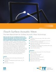 iTouch Surface Acoustic Wave - Elo Touch Solutions