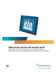Manual del usuario del monitor táctil