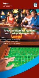 Touchmonitors for Gaming and Casino Management - Elo ...