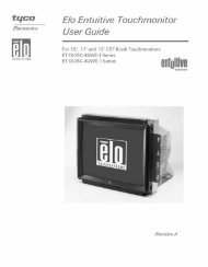 Elo Entuitive Touchmonitor User Guide for 15