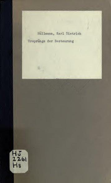 Ursprünge der Besteurung - University of Toronto Libraries