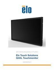 Bedienungsanleitung - Elo Touch Solutions