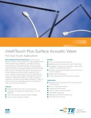 IntelliTouch Plus Surface Acoustic Wave - Elo Touch Solutions