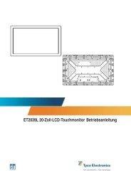 ET2039L 20-Zoll-LCD-Touchmonitor Betriebsanleitung - Elo ...