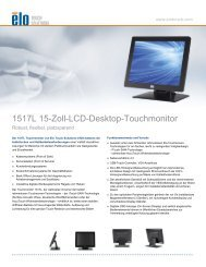 1517L 15-Zoll-LCD-Desktop-Touchmonitor - Elo Touch Solutions