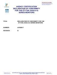 agency certification declaration of conformity for the et1729l-xxxa-xg ...