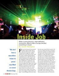 ClubWorld Magazine March/April Issue 2009 : Inside Job