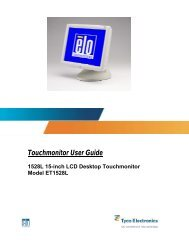 Touchmonitor User Guide for 1528L 15