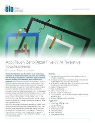 AccuTouch Zero-bezel - Elo TouchSystems