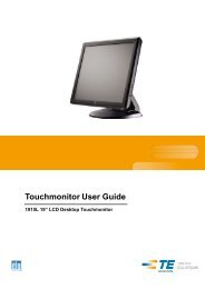Touchmonitor User Guide - Elo TouchSystems